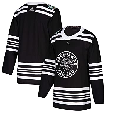 a0a348abd9f adidas Men's Chicago Blackhawks Black 2019 Winter Classic Authentic Jersey  ...