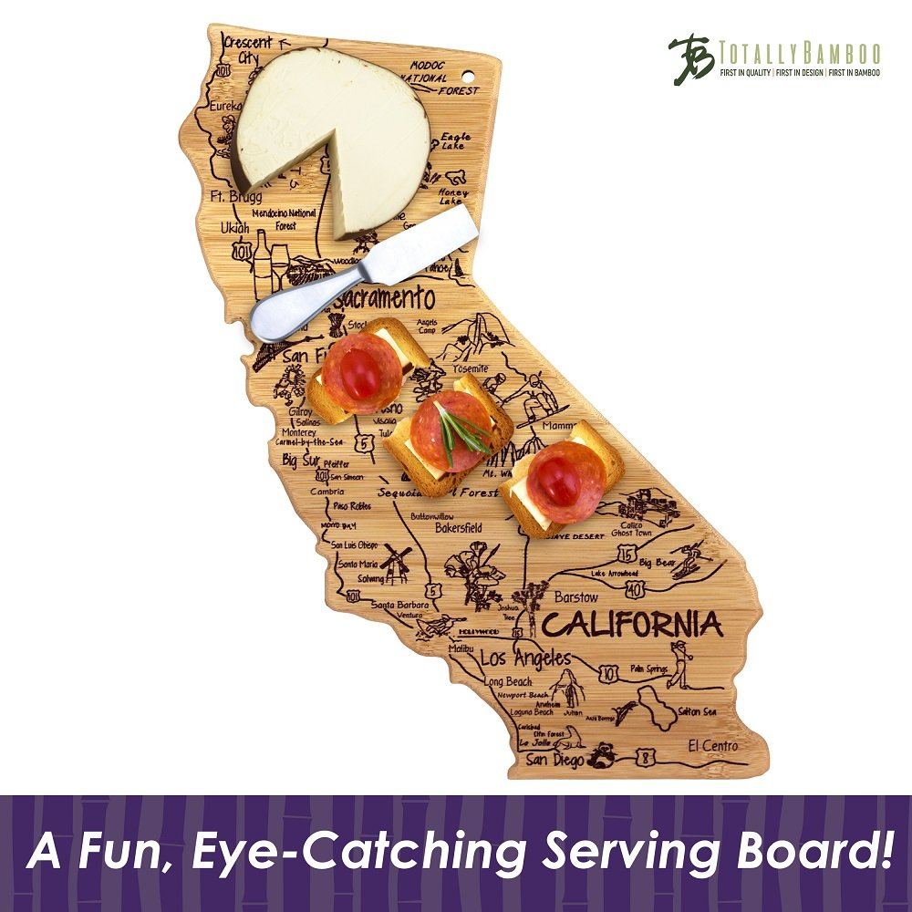 Totally Bamboo California State Destination Bamboo Serving and Cutting Board by Totally Bamboo (Image #4)