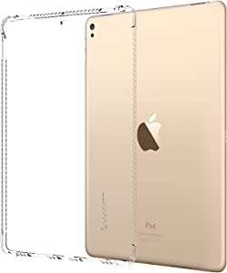 iPad Pro 12.9 2017 Case, LUVVITT Clear Grip Flexible Soft Transparent TPU Rubber Back Cover for The New iPad Pro 2 12.9 (2017) Air Bounce Shockproof Technology - Clear