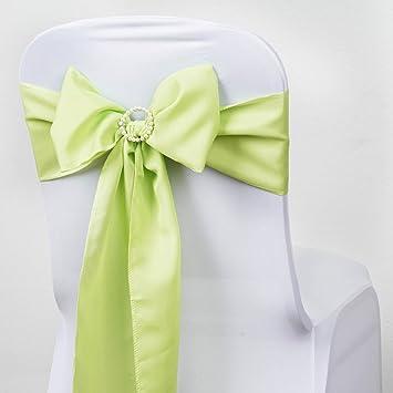Amazon Balsacircle 10 Apple Green Polyester Chair Sashes Bows