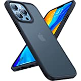 TORRAS Shockproof Compatible for iPhone 13 Pro Case 6.1 inches, [Military Grade Drop Tested] [Translucent Matte] Hard PC Back