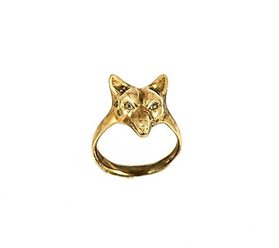 Polished Bronze Otter totem animal ring bronze ring gold ring animal ring otter ring
