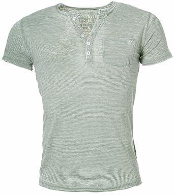 100% authentic 0f193 02bc1 Key Largo Herren T-Shirt mit Knopfleiste Mike button tiefer ...