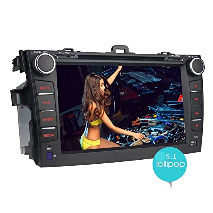 "JOYING 8"" Quad Core 1024600 Android 5.1 Car Stereo for Toyota Corolla 2007 2008 2009"