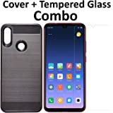 POPIO Tempered Glass & Back Cover Case Combo FOR Xiaomi Redmi 7 (Transparent Glass & Cover Combo)