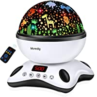 Moredig Night Light Projector Remote Control and Timer Design Projection lamp, Built-in 12 Light Songs 360 Degree…