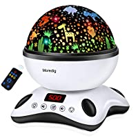 Moredig Night Light Projector Remote Control and Timer Design Projection lamp, Built-in...