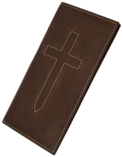 b35545884698 Basic Leather Checkbook Cover Cross Sign BY Marshal wallet(Brown)