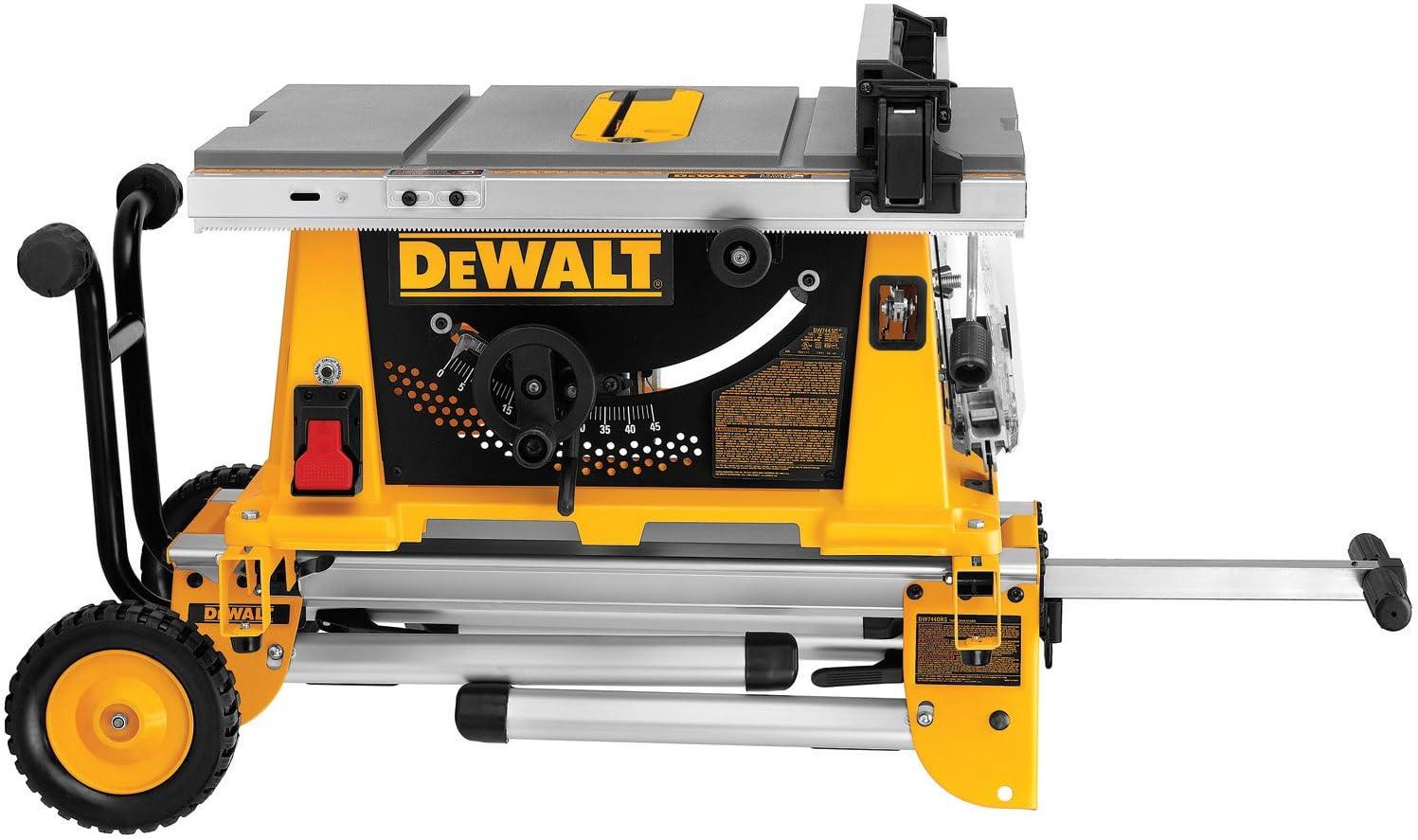 8. The DeWalt DW744XRS Portable Table Saw