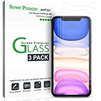 3-Pack amFilm iPhone 11/ XR Glass Screen Protector for Apple iPhone 11 and 10R
