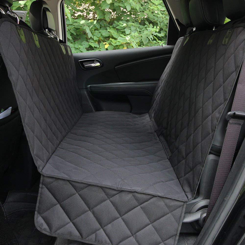 HCMAX Luxe Imperméable Chien Housse de Siège Coffre Protection Voiture Animaux Hamac Convertible Couverture Housses de Banquette Arrière pour Le Camion de SUV de Voiture