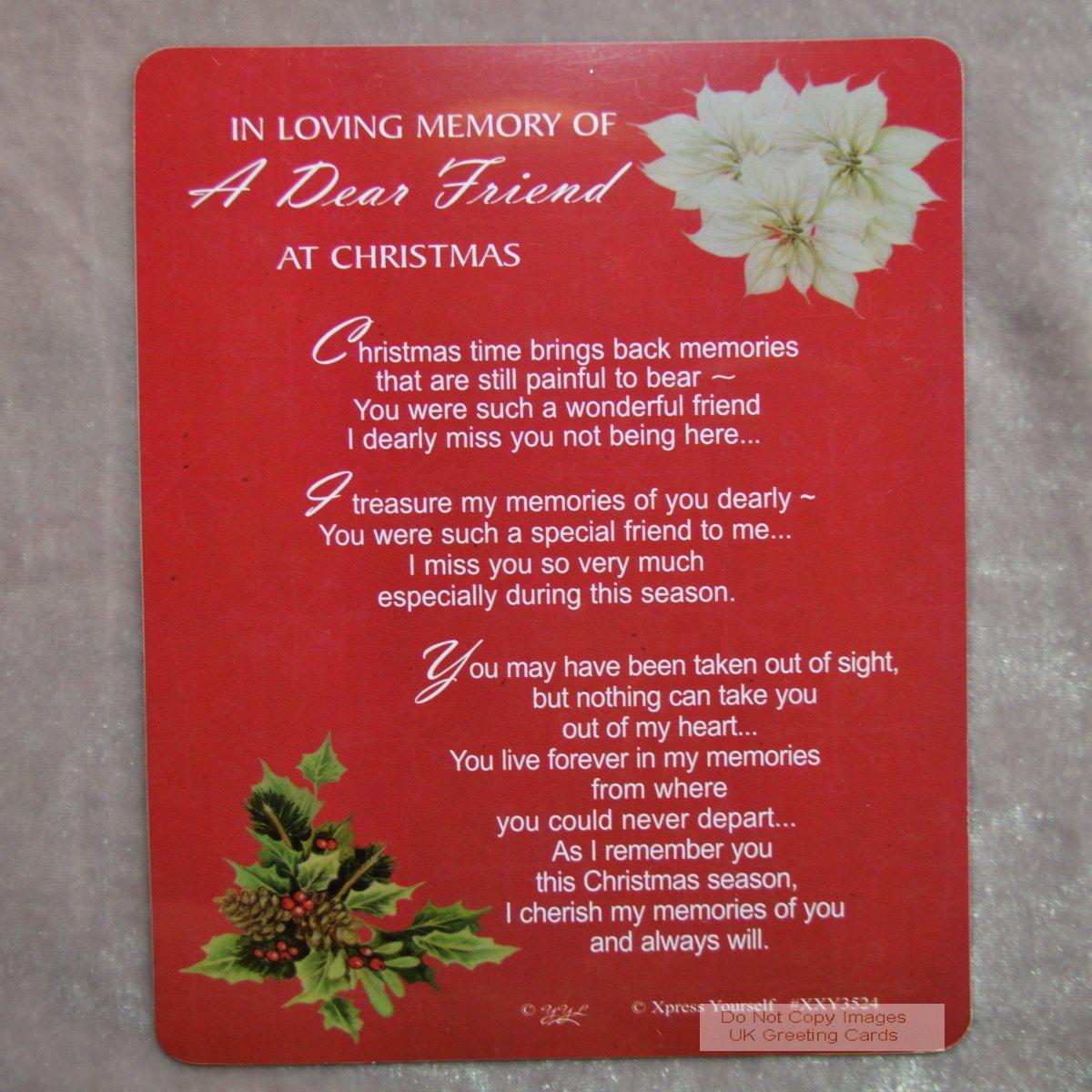 Graveside Memorial Christmas Card Holder In Loving Memory Of A