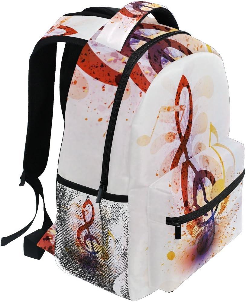 COOSUN R/ésum/é Notes de Musique Sac Casual Sac /à Dos /école Voyage Daypack Multicolore
