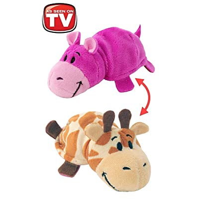 FlipZee The 5 Baby FlipaZoo with 2 Sides of Fun for Everyone - Each Huggable FlipaZoo character is Two Wonderful Collectibles in One (Giraffe / Hippo): Toys & Games