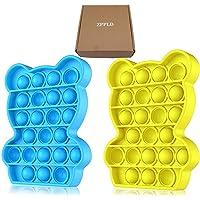 2pcs Push Pop It Fidget Toy, Sensory Fidget Speelgoed voor Angst, Fidget Stress Speelgoed Speciale Behoeften Stress…