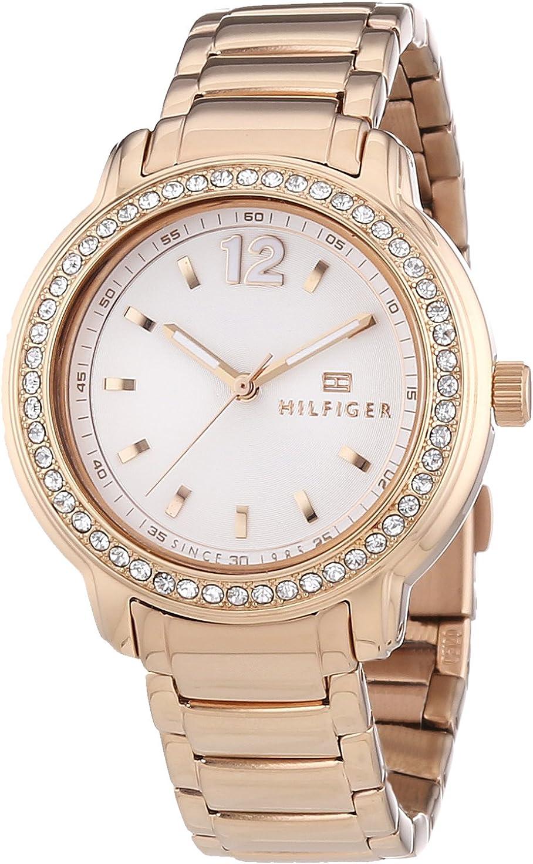 Tommy Hilfiger Watches 1781468 - Reloj de Cuarzo para Mujer, Correa de Acero Inoxidable Chapado Color Oro Rosa