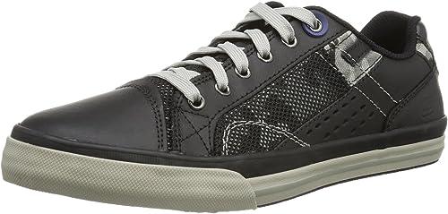 Skechers Diamondback Tevor Herren Sneakers, Schwarz (Bbk