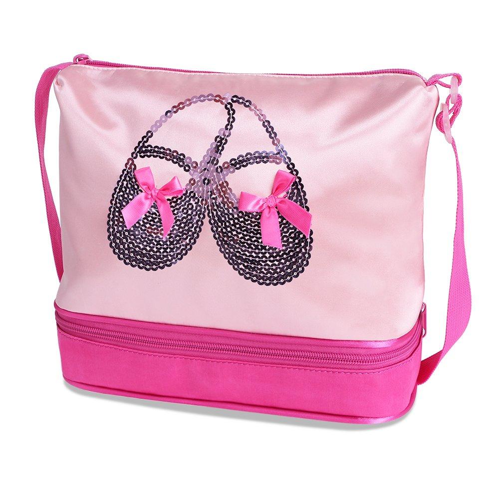 キッズ ワンピース 半袖 キラキララインストーン ダンスコスチューム チュチュバレエドレス 小さな女の子用 38歳 B0744HMVJY One-size|Pinkhotpink Bag Pinkhotpink Bag One-size