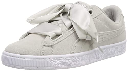 Suede Heart Galaxy Wn s Grey Sneakers
