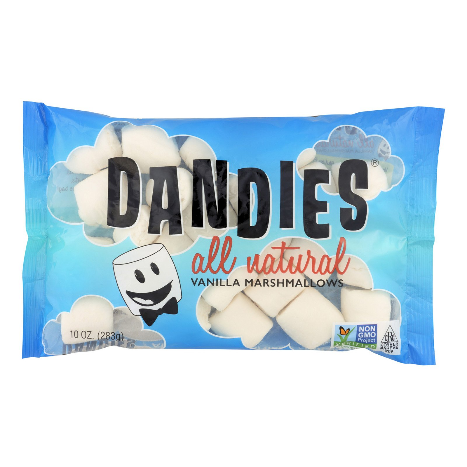 Dandies Air Puffed Marshmallows - Classic Vanilla - Case of 12 - 10 oz.