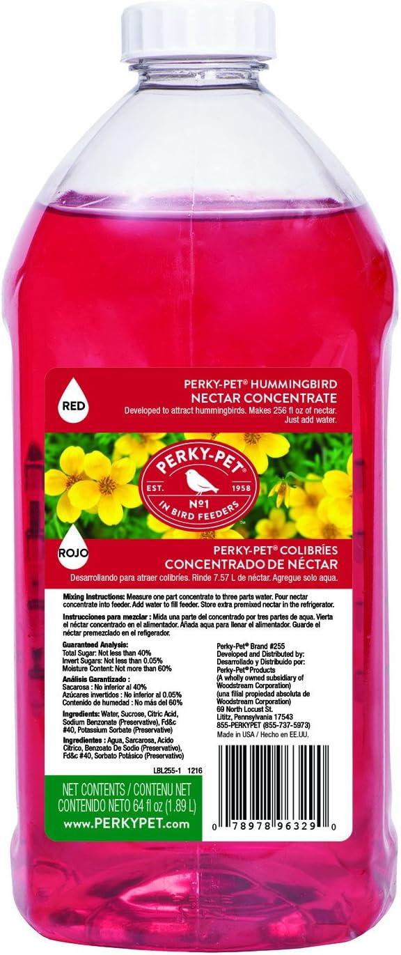 Perky Pet 255 Hummingbird Nectar Concentrate, 64 oz