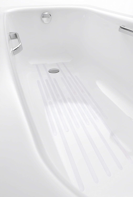 rutschfeste Klebestreifen Sicherheit Anti Rutsch Aufkleber f/ür Treppenstufen 24 St/ück + Schaber Timing Antirutschstreifen f/ür Dusche und Badewanne