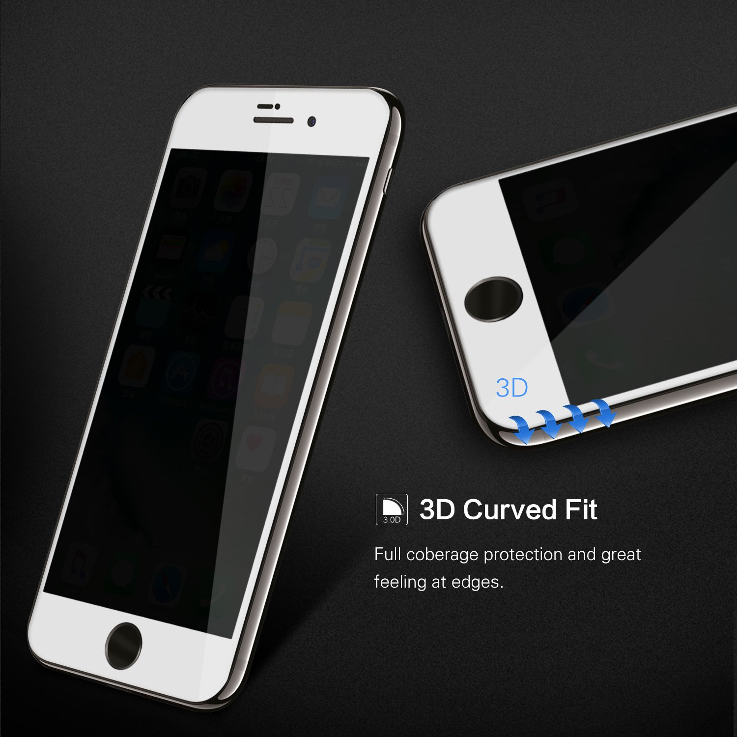 Amazon iPhone 8 7 Screen Protector Glass Tempered ChuangSiAo Privacy Anti Spy Tempered Glass for Apple iPhone 8 7 glass Electronics