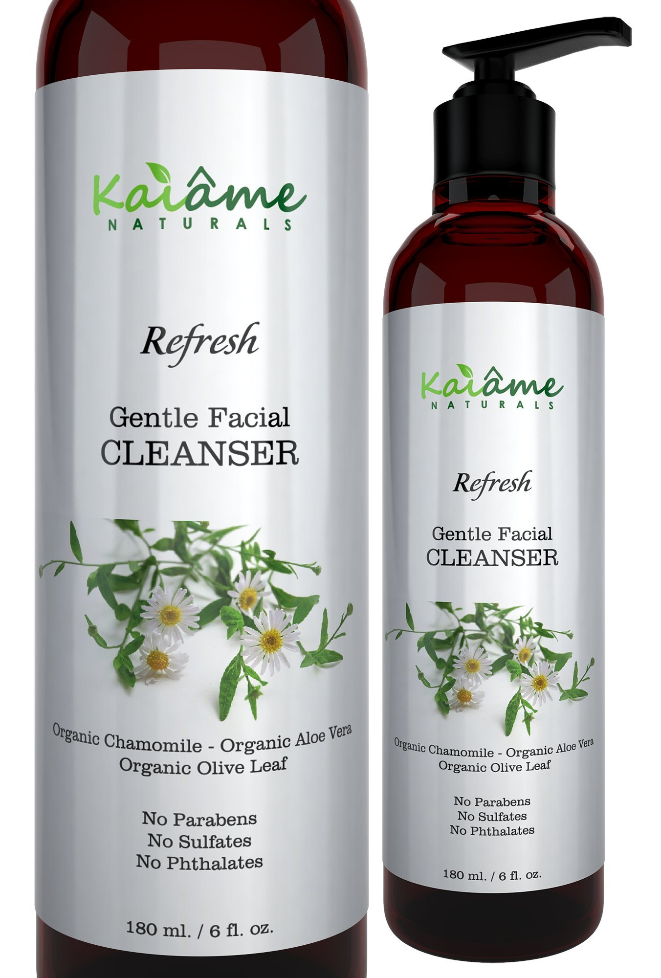 Kaiame Naturals Gentle Facial Cleanser for Women and Men | 6 oz | All Natural and Organic | For All Skin Types | Anti-Aging | Exfoliates and Moisturizes