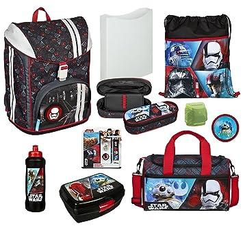 26b2efe6a0e0f Familando Star Wars Schulrucksack-Set 14tlg. Sporttasche Scooli Flexmax  Schulranzen-set Twixter mit