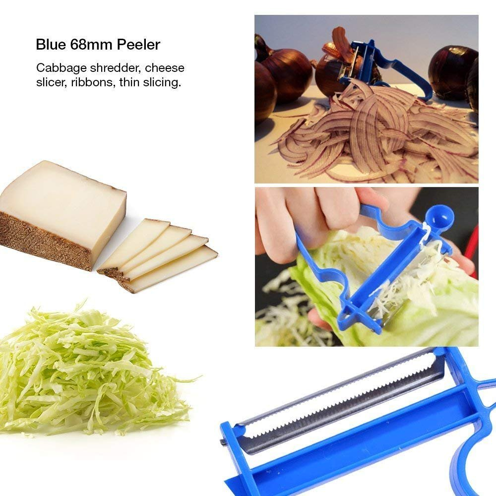 3pcs/Set Multi-Function Peelers Trio Peeler Slicer Shredder Julienne Vegetable Fruit Potato Cutter Zesters oobest