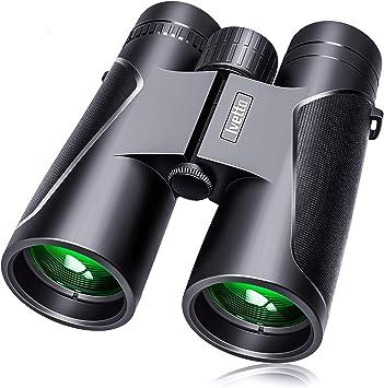 Caza Binoculares Prismas BaK4 y FMC Senderismo Ideales para Observaci/ón de Aves Prism/áticos Profesionales Upworld 12x42 HD Prismaticos Visi/ón Nocturna d/ébil para Adultos Astronom/ía y Camping