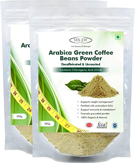 Sinew Nutrition Green Coffee Beans Powder 700g (350g x 2) for