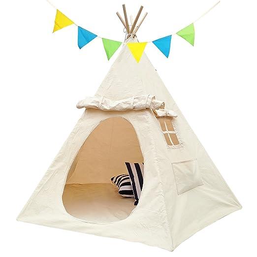 Lavievert Kinderzelt Mit Zwei Fenster Spielzelt Indianerzelt Tipi