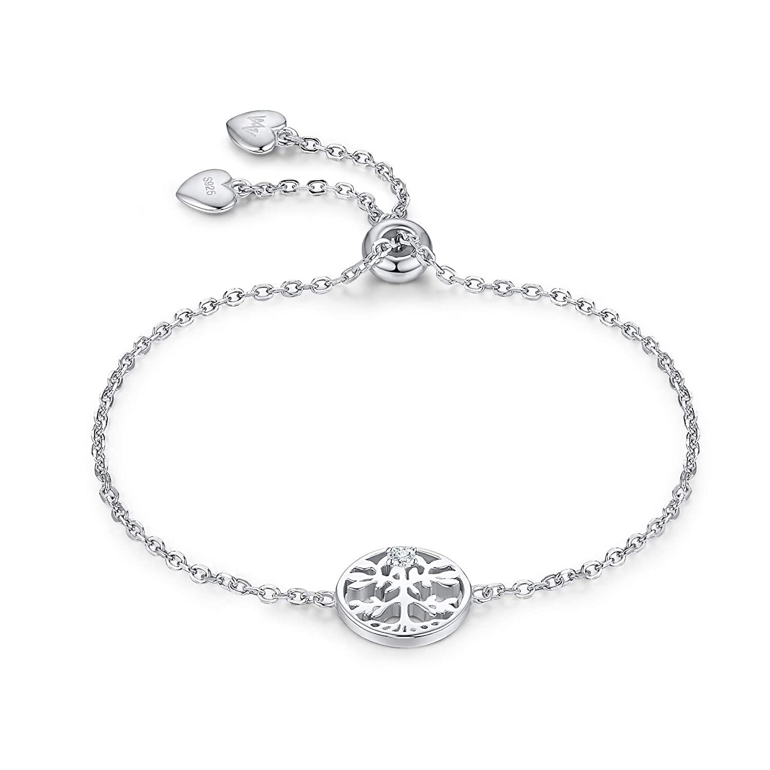 b725567f297b WISHMISS 925 Sterling Silver Tree of Life Charm Bracelet for Girl ...