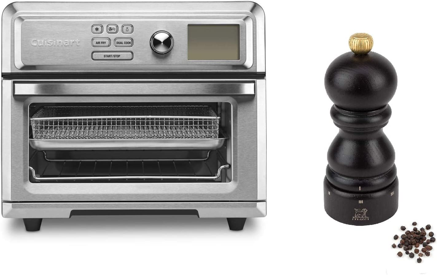 Cuisinart TOA-65 AirFryer toaster oven.6 cu ft, Silver W/Peugeot Paris U'Select 5 Inch Pepper Mill