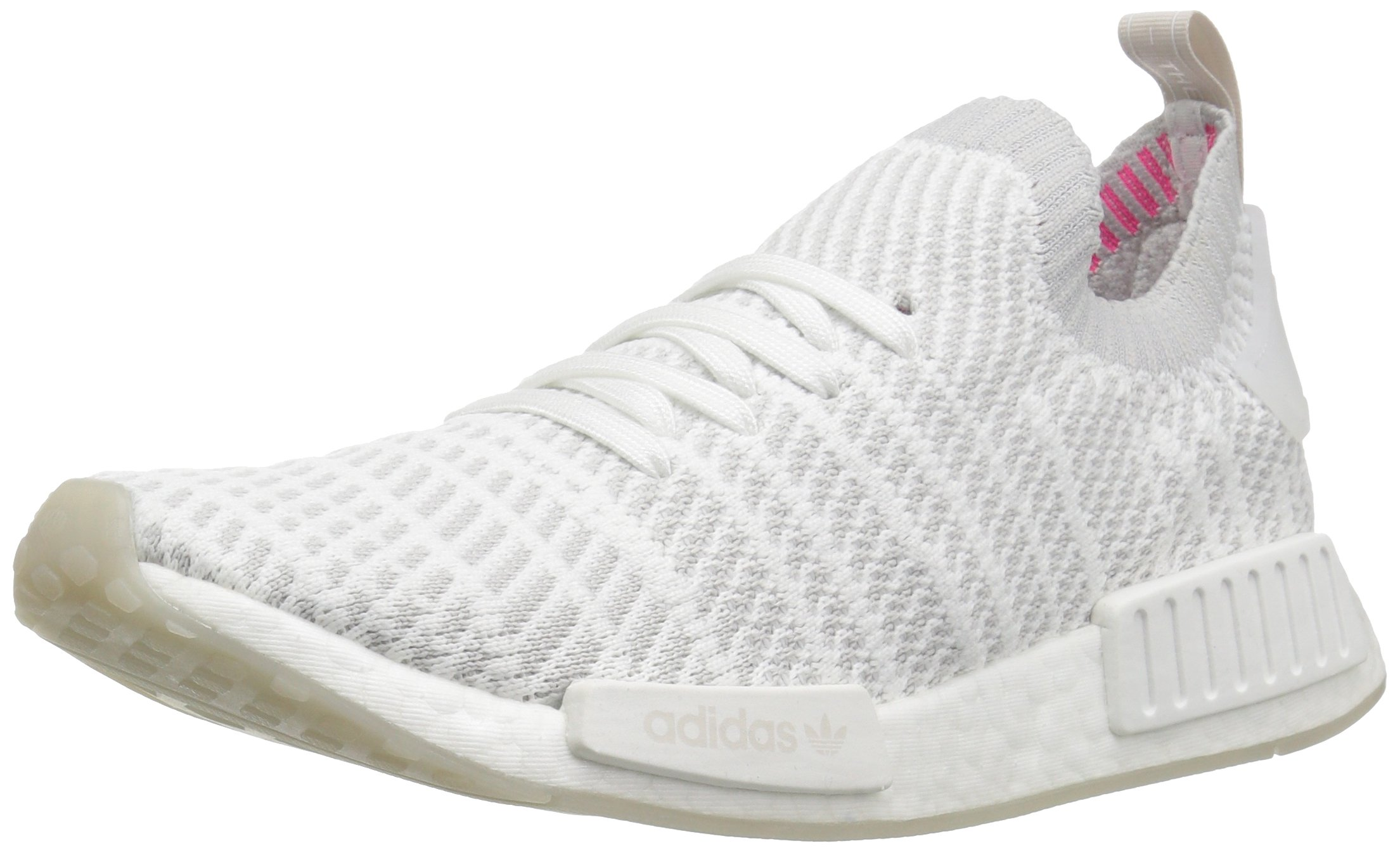adidas Originals Men's NMD_R1 Stlt PK, White/Grey One/Soft Pink, 8.5 M US by adidas Originals