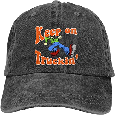 Adjustable Truck Cap Cowboy Hat Women Girls Men Baseball Cap Retro Adult Hi-C-Logo