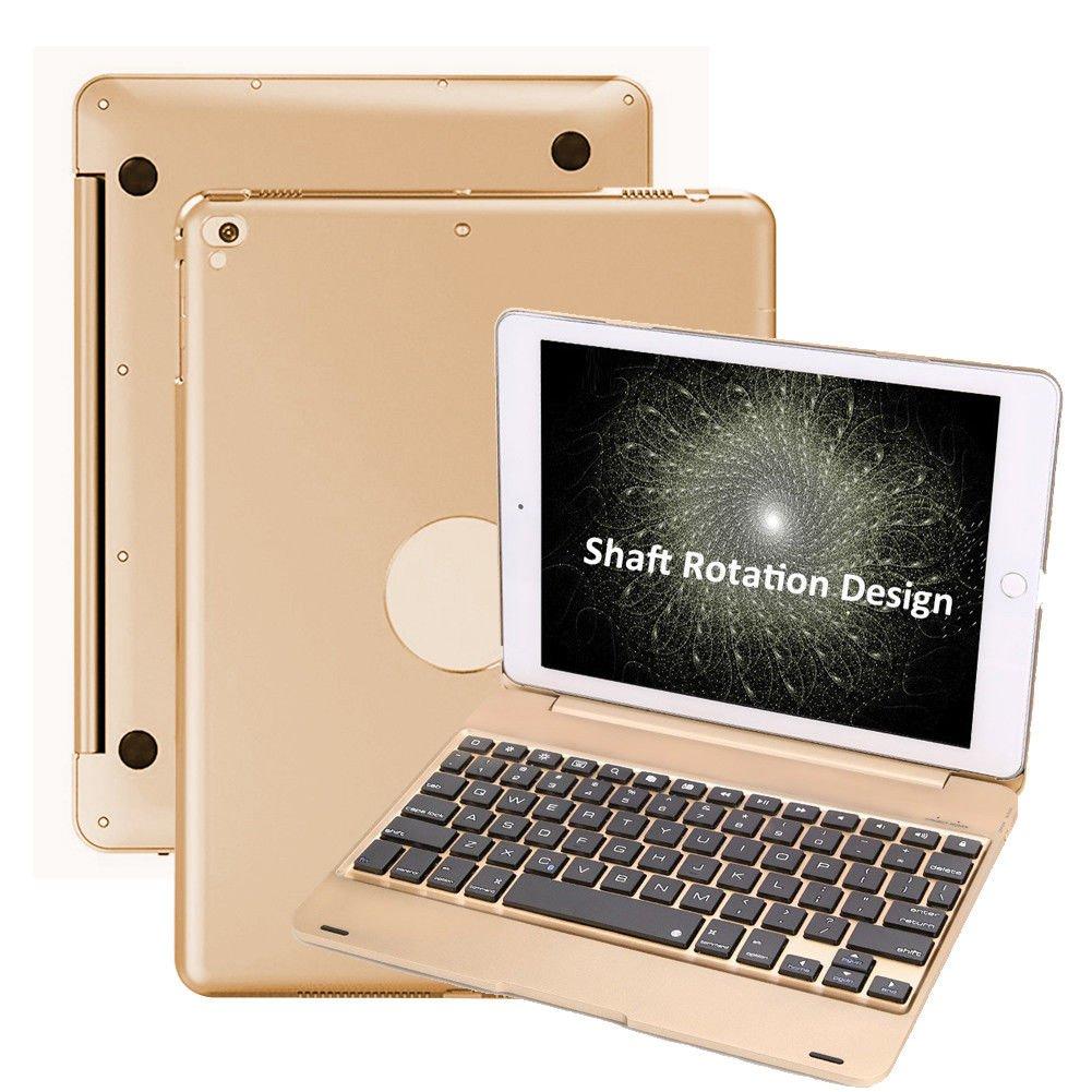 iPad 9.7 2018/2017/iPad Air/iPad Air 2/iPad Pro 9.7 Keyboard Case-Naswei Ultra-Slim Lightweight Folios Case Cover with Wireless Keyboard for 6th 5th Generation iPad 9.7(Black) CA89667F19B