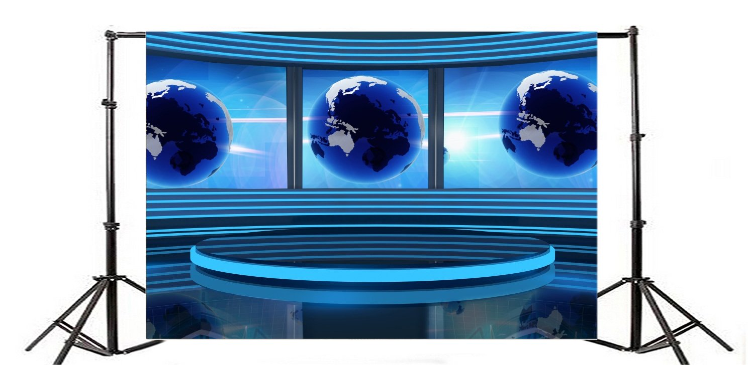 Yeele 9x6ft Broadcasting News lcd Media Monitor Photo Backdrops Screen Newsman Correspondent Television Photography Backdrops Vinyl Photo Shoot Studio Props