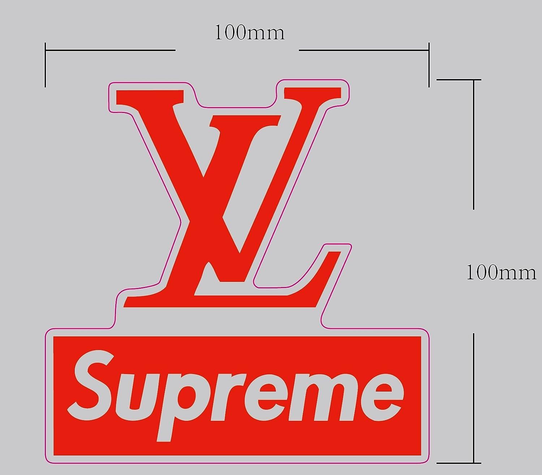 Supreme X Louis Vuitton Vinyl Aufkleber L Skateboard L