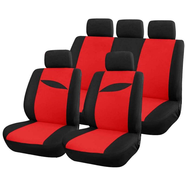 Housse protection pour siè ge de voiture bi couleur noir et rouge (scenario) Peraline