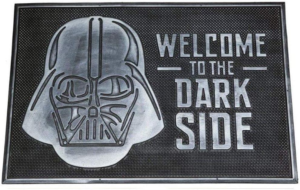 Pyramid International Star Wars Welcome to Dark Side Rubber Door Mat, Black, 40 x 60 cm