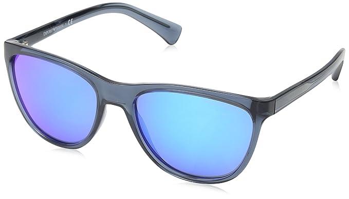 Emporio Armani 4053, Gafas de Sol Unisex, Transparent Bluee 537355, 57
