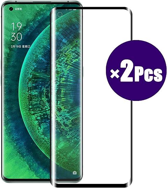 "Image ofWLSM 2 × Unidades Protector de Pantalla para OPPO Find X2 Pro Cristal Templado Anti-Golpes Vidrio Templado Premium Anti-Huella Ultra Transparente para OPPO Find X2 Pro (6.7"")"