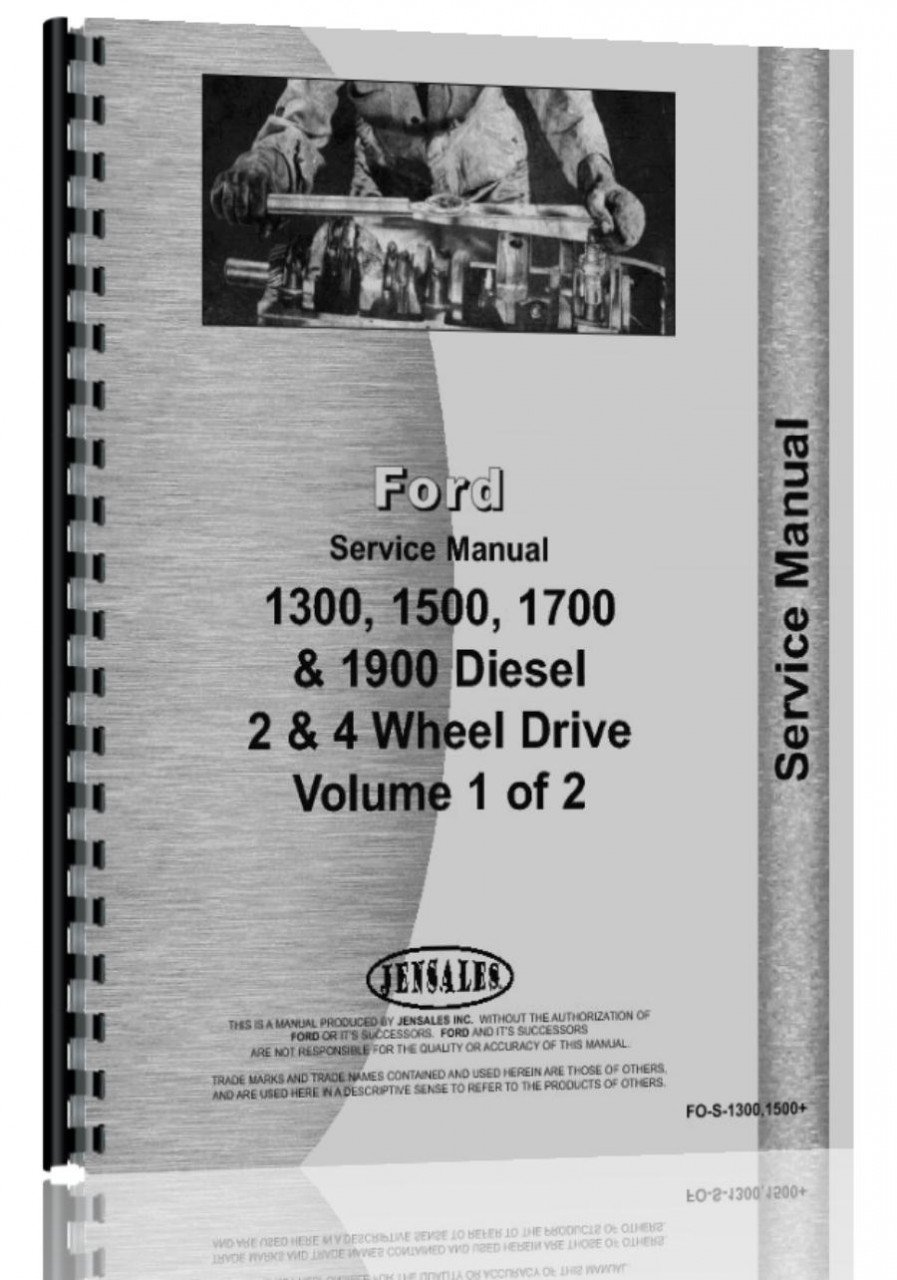 Ford 1300 1500 1700 1900 Tractor Service Manual FO-S-1300, 1500+: Ford:  0761873349473: Amazon.com: Books