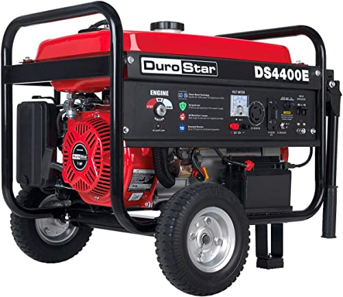 Durostar DS4400E Gas Powered Portable Generator-4400 Watt Electric Start-Camping & RV Ready