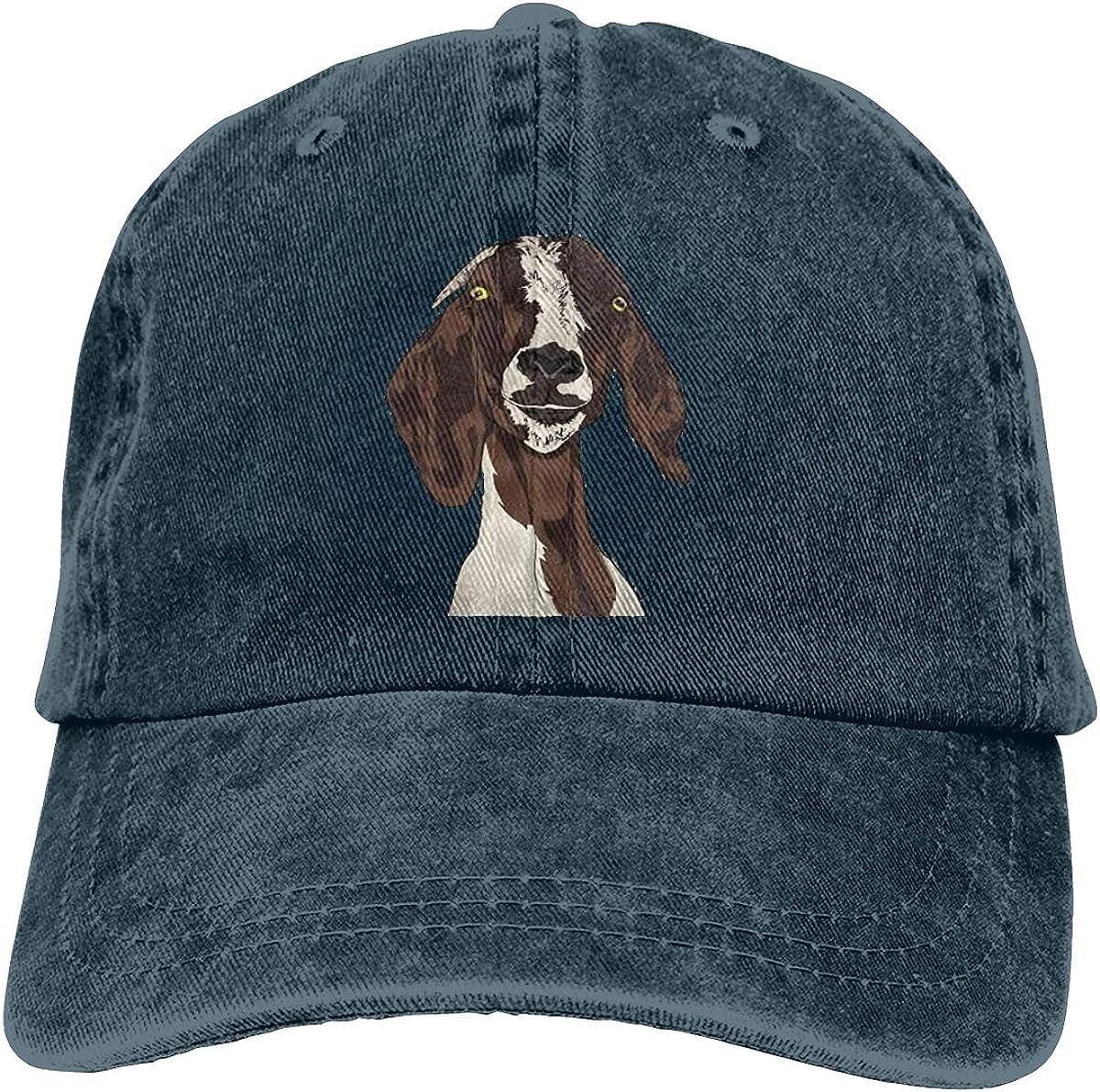 Goat Unisex Baseball Cap Cotton Denim Amazing Adjustable Sun Hat for Men Women Youth