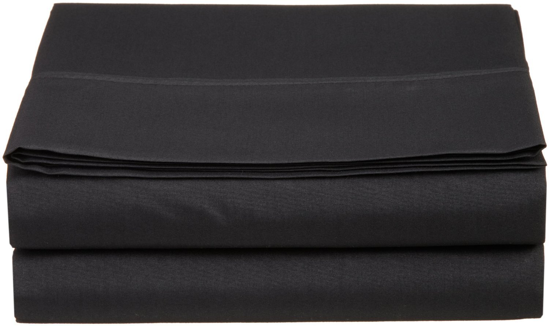 Everyday Living Cotton Rich Twin Flat Sheet- Black