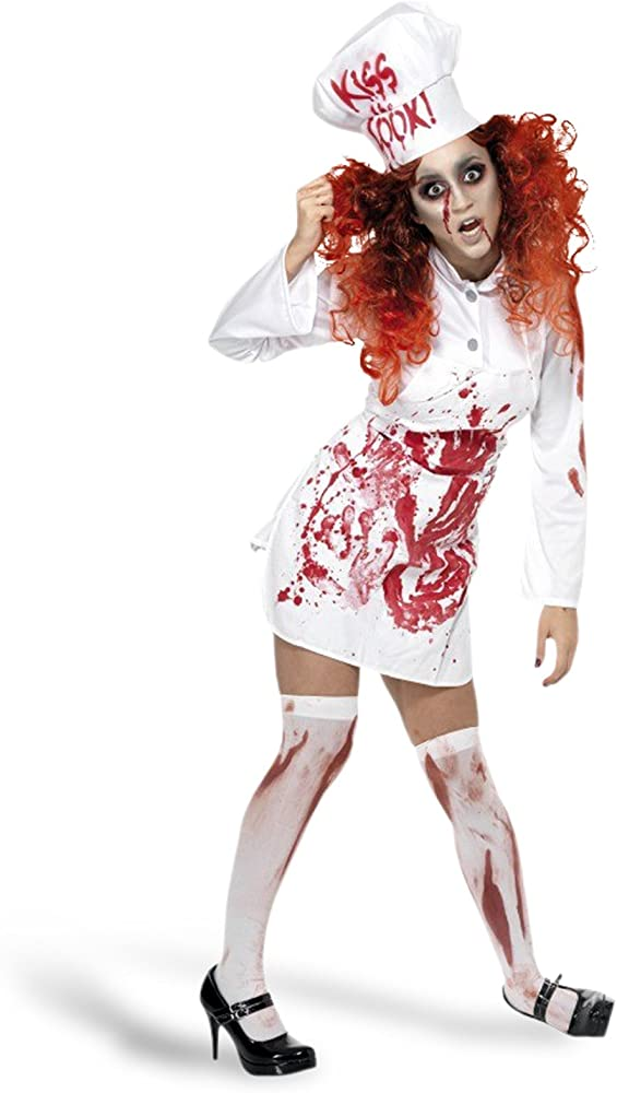 Mujer muerto cadáver zombi sangriento Chef Cocinero Disfraz de ...