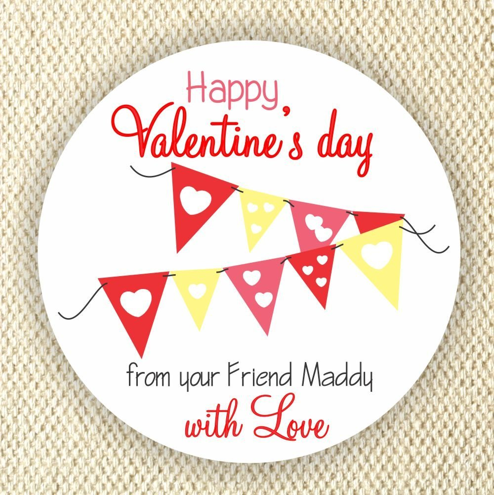 Amazon com personalized valentines day favor stickers hearts stickers valentine labels handmade